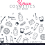 k beauty banner with hand draw vector image