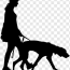 walk a dog cutout png clipart images